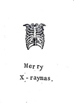 5 Pack X-ray Anatomy Christmas Card: Funny Skeleton Science Medical Humor Doctor Nurse Holiday Seasons Greetings Atheist Gothic Black Pun