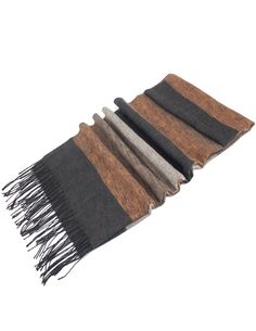 Dahlia Men's Scarf - Colorful Awning Stripes - Black at Amazon Men's Clothing store: