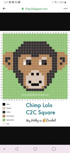 C2c Crochet, Crochet Chart, Crochet Stitches, Embroidery Stitches, Crochet Patterns, Safety Pin Crafts, Cross Stitch Animals, Fair Isle Knitting, Knitting Charts