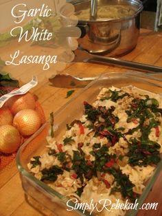 Getting Ahead with Bulk Food Prep {plus Garlic White Lasagna recipe!}
