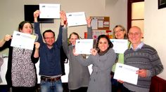 Spanish students with their diplomas after completing #SpanishCourses with AIL #Madrid. http://www.ailmadrid.com/en/14/5/Spanish-Language-Course