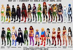 Current DC girls Lineup April 2012 by petercotton.deviantart.com @ deviantART