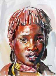 'Young Warrior at Heart' by Patrick Peter Kinuthia Africa Painting, Africa Art, African Artwork, Art History, Photo Art, Watercolor, Pastels, Artist, Faces