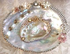 Abalone shells with jewels