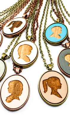 Personalized portrait necklaces - only $20!