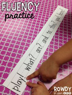 easy idea for fluency practice- inflection