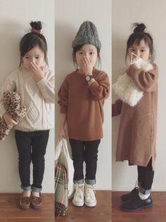 冬のスキニーコーデまとめ◡̈⃝︎⋆︎* ゆるめのニット合わせも好きだけど、ワンピと合わせるのも好きで Little Girl Outfits, Little Girl Fashion, Toddler Fashion, Boy Fashion, Outfits Niños, Kids Outfits, Kindergarten Outfit, Look Girl, Girl Style