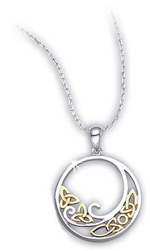 Celtic Wave Necklace - triquetra