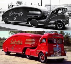 Coolest art deco beer delivery truck ever. It even has a fin on the back which you can't see in these photos.