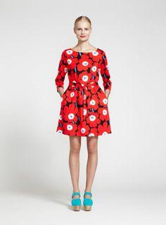 Huikea-mekko (musta, punainen, sininen) |Vaatteet, Naiset, Mekot ja hameet | Marimekko
