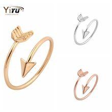 Para mujeres 2016 nueva moda flecha anillo Wrap ajustable Midi suena si anillo de plata / oro del estiramiento anillos de compromiso R008(China (Mainland))