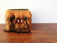 Brown & Black Monster Wallet Two Green Eyes by ShopGhoulieGirls, $24.00