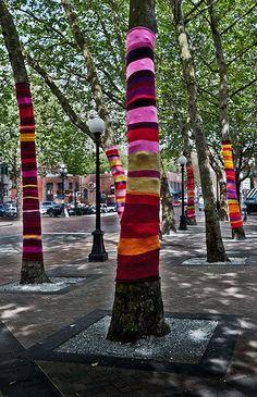 Yarn Bombing - Seattle