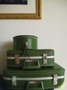 1970s Vintage 3-Peice Luggage Set