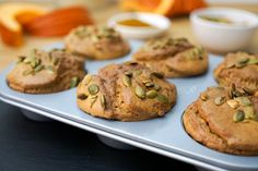 Muffins à la Citrouille Four, Muffins, Baked Potato, Gluten, Biscuits, Healthy Recipes, Healthy Meals, Baking, Breakfast