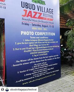 From @ubudvillagejazzfestival  Come on! Join the photo competition and Win the vouchers!