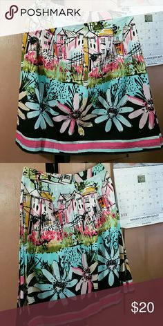 Beautiful skirt New, never worn. Measures 23 inches from waist down. Waist measures 28 inches. I.e.  Skirts Midi