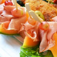 If you are looking for appetizer ideas, Proscuitto with Melon is an all time classic.Easy to prepare and always delicious, make these a part of your appetizer platter.