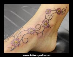 vines+with+names | Foot%20Tattoo%20Vines%20Flowers%201 Foot Tattoo Vines Flowers