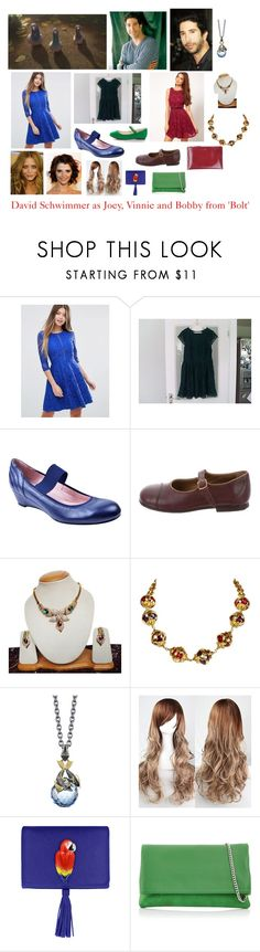 """Disney dream cast: David Schwimmer as Joey, vinnie and bobby from 'Bolt'"" by sarah-m-smith ❤ liked on Polyvore featuring Taryn Rose, Bonpoint, Yves Saint Laurent, Stephen Webster, Nach Bijoux, Karen Millen and Rochas"
