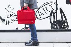 Moleskine horizontal device bag red design by Gioia Giovannella www.gioiagiovannella.com