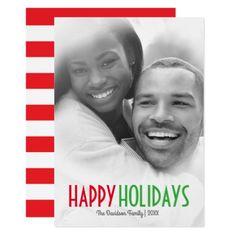 #Simple Happy Holidays Frosted Photo | Christmas Card - #Xmas #ChristmasEve Christmas Eve #Christmas #merry #xmas #family #kids #gifts #holidays #Santa