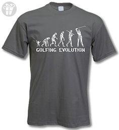 26e022d7c2914 Golf Evolution - Funny Birthday Gift   Present T-Shirt Mens Charcoal XL -  Birthday