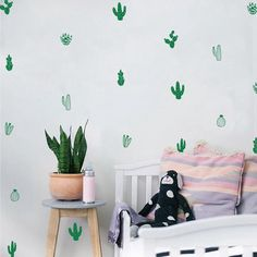 amazing cactus wall sticker #cactus #wallsticker #homeidea