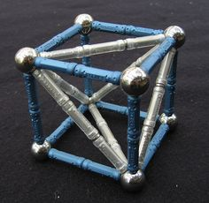 Geomag tetrahedron inside cube