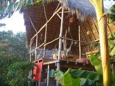Hostel Clandestino (Nicaragua/Playa Maderas, San Juan del Sur) - The most wonderful tree house hostel surrounded by Jungle. Relax on the deck whilst Howler Monkeys play in the nearby trees. Take supplies and cook for yourself in the well equipped outdoor kitchen before heading down to the beach for a surf lesson. Lovely German hosts will make you feel totally at home. Heaven!