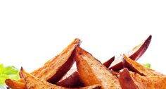 Our Healthy Hints: Try using a cooking spray rather than coating the sweet potatoes in oil. Oven Baked Sweet Potato Fries Recipe Bariatric Bites: Pair this up with some tender chicken for a co (Baking Sweet Fries) Baked Sweet Potato Wedges, Oven Roasted Sweet Potatoes, Tapas, Sugar Cravings, Sweet Potato Recipes, World Recipes, Hamburgers, Eat Smarter, Cooking Recipes