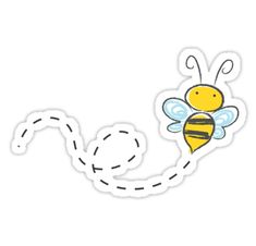"""Bee"" Stickers by hrmattus 