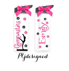 Personalized Gymnastics Water Bottle /Gymnast/ por PYdesigned