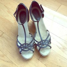 Ann Taylor LOFT Wedges Barely worn, excellent condition. Leather upper. LOFT Shoes Wedges