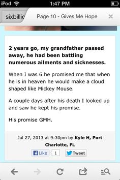I lost my grandmother 2 years ago this month any my grandfather a year ago last month. This made me cry like a baby