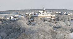 Flavigny sous la neige
