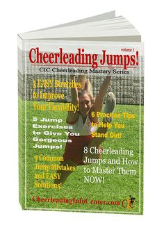 Are you ready to master your Cheerleading Jumps?! Check out this detailed ebook that will help you get GORGEOUS Jumps quickly! And for only $5!!! Get your copy today at TheCheerleadingShop.com