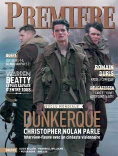 Fionn, Tom Hardy, and Cillian Murphy on the cover of Première Magazine  #tomhardy #dunkirk