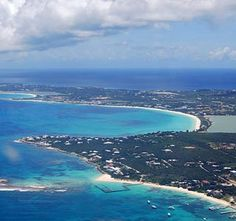 arial view of anguilla