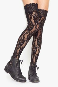 lace thigh high