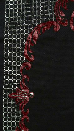 This Pin was discovered by Fil Cross Stitch Embroidery, Hand Embroidery, Cross Stitch Patterns, Prayer Rug, Blackwork, Needlework, Crochet, Crossstitch, Cross Stitch