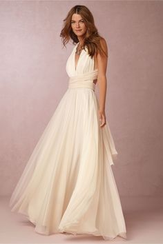 Ginger Convertible Maxi Dress in Dresses Party Dresses at BHLDN