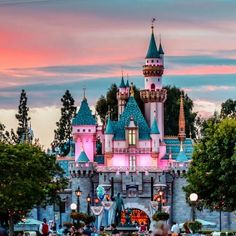 Sunset at Disneyland!!  ---  I LOVE sunsets at Disney parks! There is nothing like them!