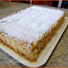Diplomatica Italian Cake, Italian Desserts, Italian Recipes, Baking Recipes, Cake Recipes, Dessert Recipes, Key Lime Pie Bars, Torte Cake, Sweet Tarts
