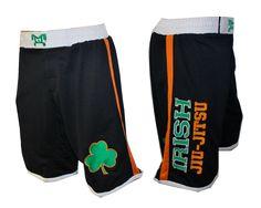 MyHOUSE Sports Irish Jiu Jitsu MMA Fight Short Micro-mesh material with embroidered Irish Jiu-Jitsu on right leg and shamrock on left leg. MyHOUSE provides more customise #wrestling products and #apparels in the USA.