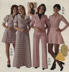1973 fashion. I think I wore most all of this in my teenage years.