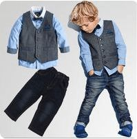 78d3c27d2 Lil' Gentleman's Fashion Handsomely Attired Outfit Set - UK 2018 Spring  Collection - 3Pc Set