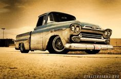 Classic Chevy truck on American Racing wheels Old Pickup, Pickup Trucks, Classic Chevy Trucks, Classic Cars, 1958 Chevy Truck, Timeless Classic, Cool Trucks, Cool Cars, American Racing Wheels