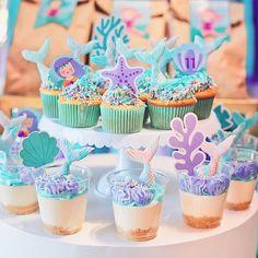 Mermaid Birthday Cakes, Mermaid Cakes, Little Mermaid Birthday, Mermaid Party Decorations, Girl Birthday Decorations, Candy Theme Birthday Party, Birthday Parties, Barbie Party, Baby Shower