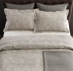 Italian 19th C. Medallion Bedding Collection in Pacific $279 King Duvet cover